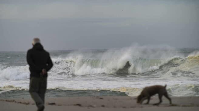 Olas en el litoral coruñés.