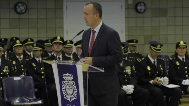 Francisco Martínez, en un acto de la Policía durante su etapa como 'número dos' de Interior.