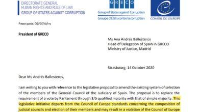 """El GRECO advierte al Gobierno de que la reforma del CGPJ puede """"violar las normas del Consejo de Europa"""""""