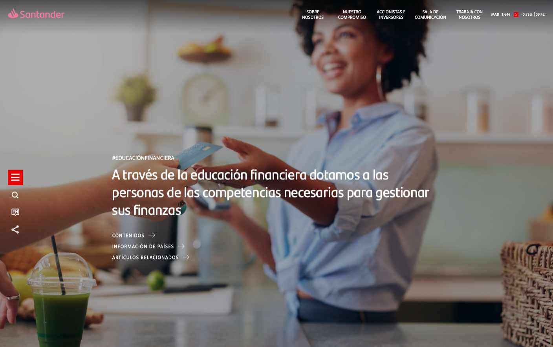 Nueva plataforma online de educación financiera de Banco Santander