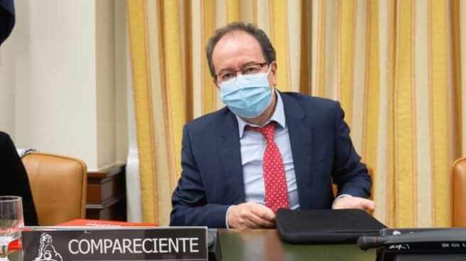 José Luis Rodríguez Álvarez, compareciendo en el Congreso el pasado 14 de octubre.