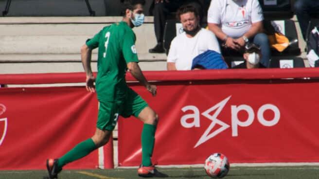Javier del Val, en el partido disputado el domingo
