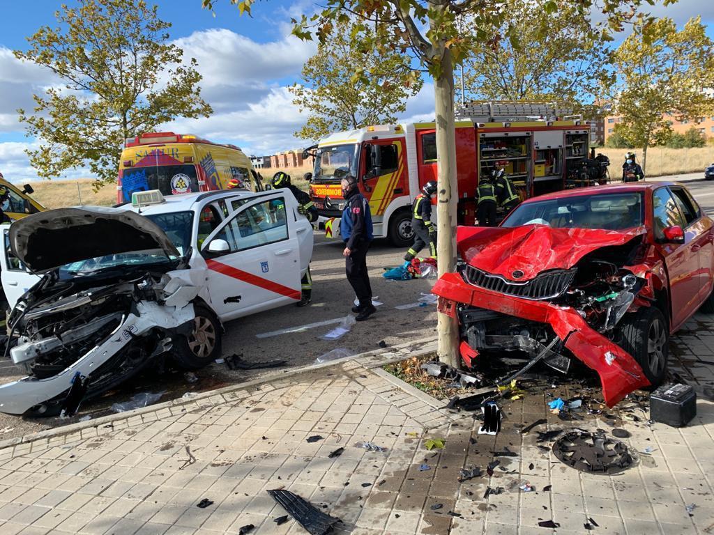 Accidente en Madrid.