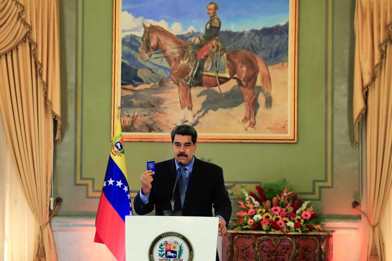 Maduro rueda de prensa Leopoldo López