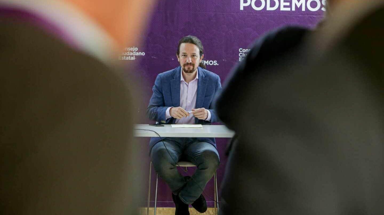 Pablo Iglesias, durante una intervención en la reunión del Consejo Ciudadano Estatal de Podemos.