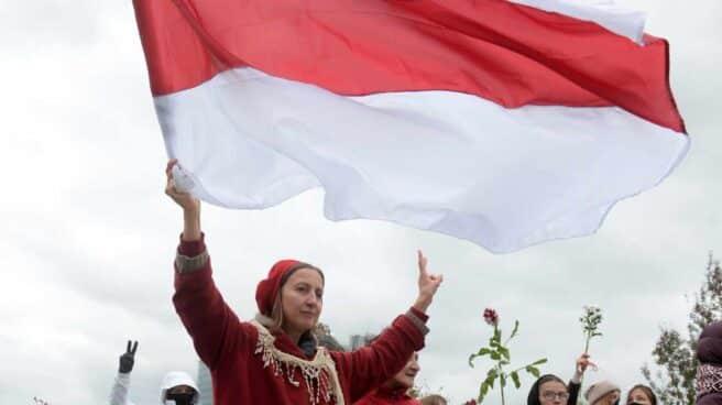 Manifestación Minsk Bielorrusia