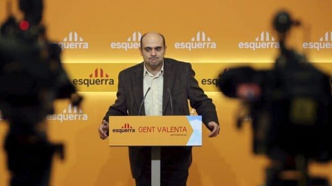 Xavier Vendrell, en una comparecencia durante su etapa como dirigente de ERC.