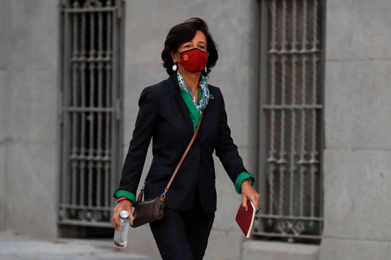 La presidenta de Santander, Ana Botín, testifica en la Audiencia Nacional.