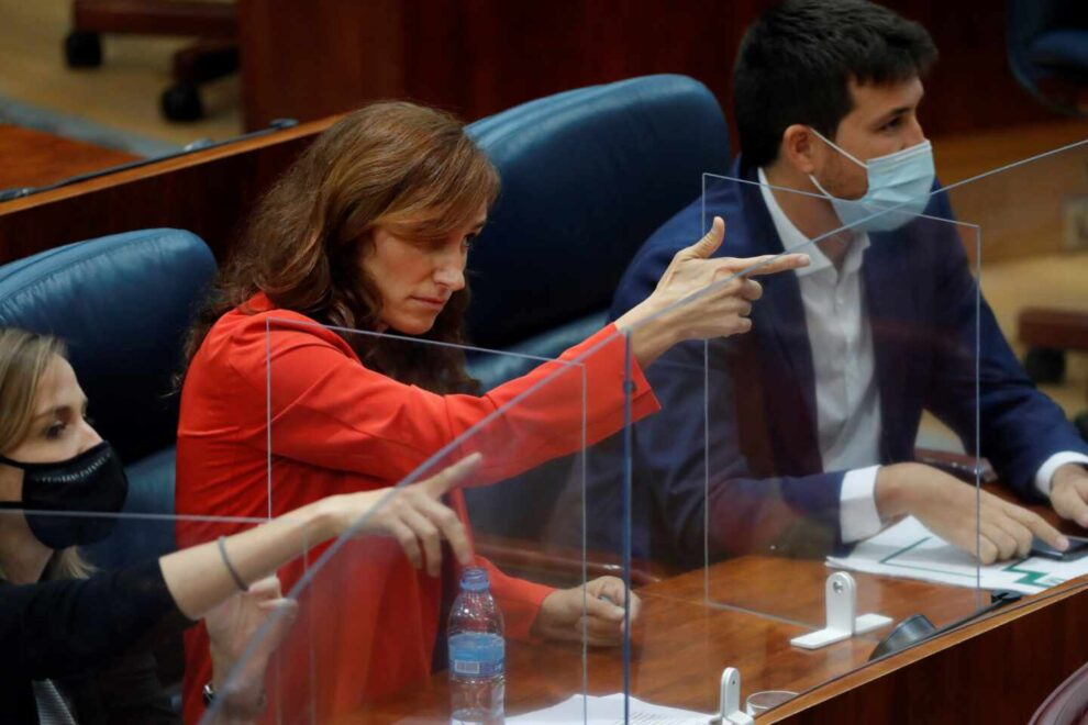 Mónica García, en la Asamblea de Madrid.