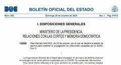 Consulte el documento completo del nuevo decreto de estado de alarma
