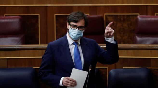 Salvador Illa, ministro de Sanidad, en la sesión de control al Gobierno.
