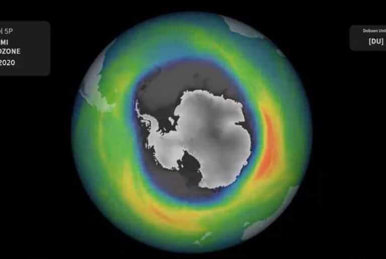 El agujero de ozono antártico de 2020, de los mayores y más profundos de los últimos años