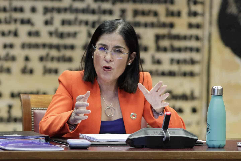 La ministra de Política Territorial y Función Pública, Carolina Darias, en el Senado.
