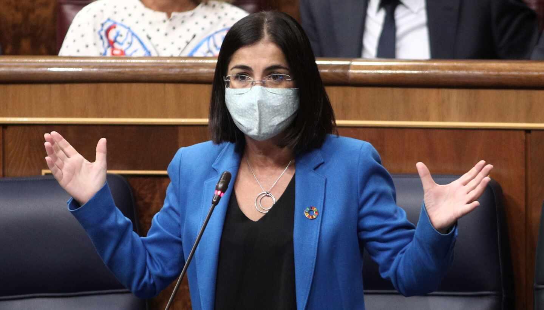 La ministra de Política Territorial y Función Pública, Carolina Darias, interviene en el Congreso de los Diputados.