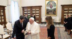 La visita de Sánchez al Papa en imágenes