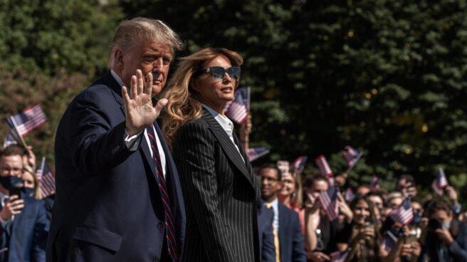 Donald Trump y Melania, este martes en la Casa Blanca.