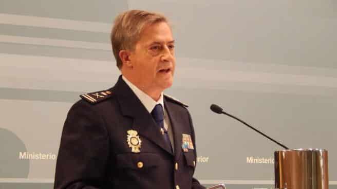 Eloy Quirós, cuando asumió el cargo de comisario general de Policía Judicial.
