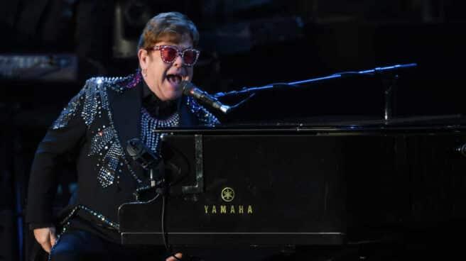 Elton John, durante un concierto en Australia.