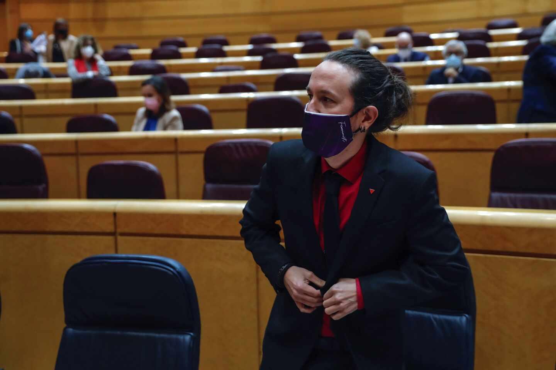 Pablo Iglesias, en el Senado.