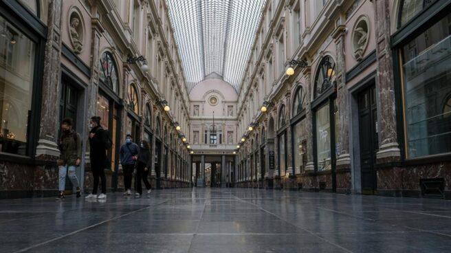 Las Galerías Reales de Bruselas, prácticamente desérticas.