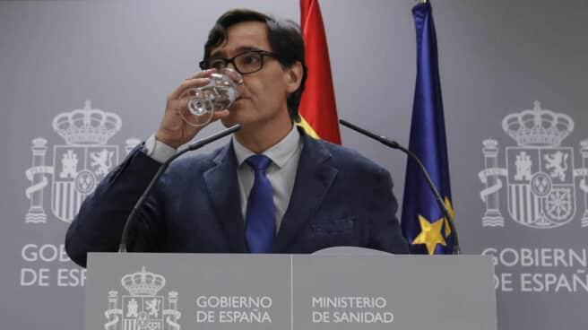 El ministro de Sanidad, Salvador Illa, en una comparecencia informativa en La Moncloa.