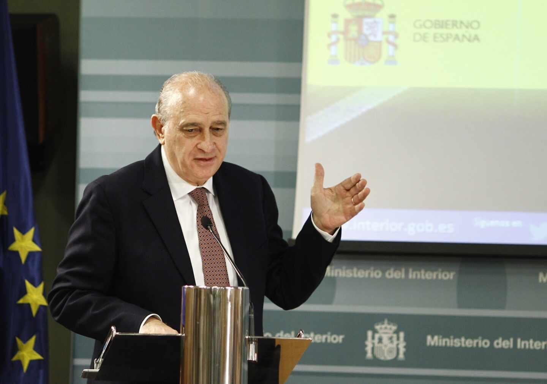 Fernández Díaz, en una comparecencia durante su etapa como ministro del Interior.