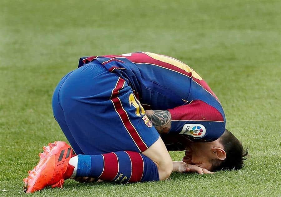Leo Messi, durante el Clásico entre el Barcelona y Real Madrid (1-3).