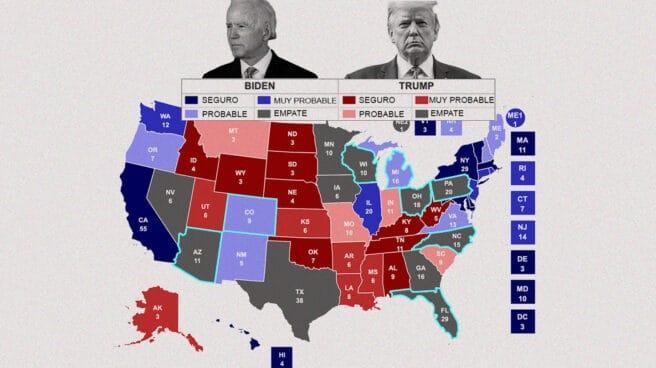 Los ocho 'estados bisagra' donde se decide quién ocupa la Casa Blanca - El  Independiente
