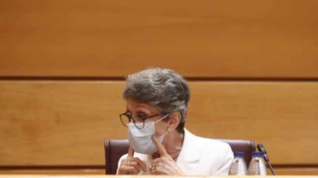 La administradora provisional única para la Corporación RTVE, Rosa María Mateo, en una reciente comparecencia en el Senado.