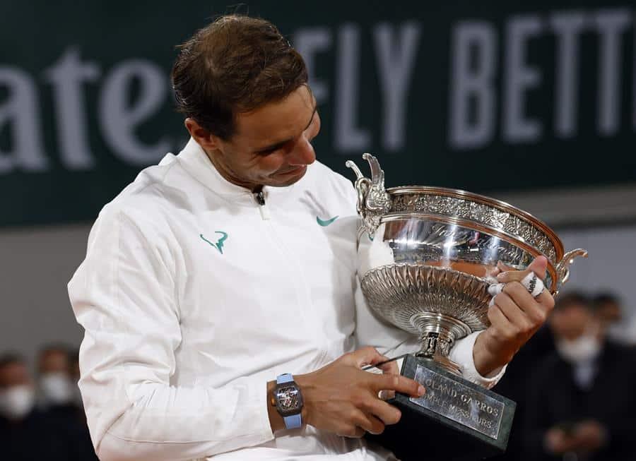 Rafael Nadal, con su 13º título en Roland Garros.