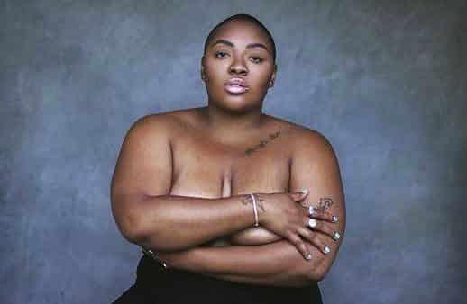 La modelo negra de talla grande Nyome Nicholas-Williams, en una imagen de Instagram.