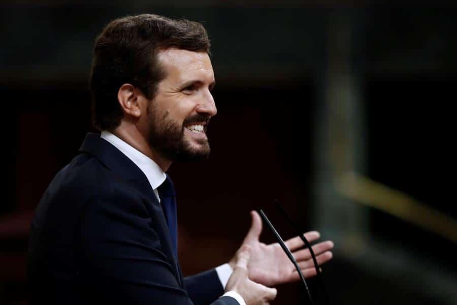 Pablo Casado, durante su intervención en la moción de censura.