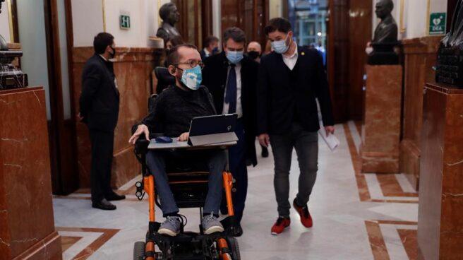 El portavoz parlamentario de Podemos, Pablo Echenique.