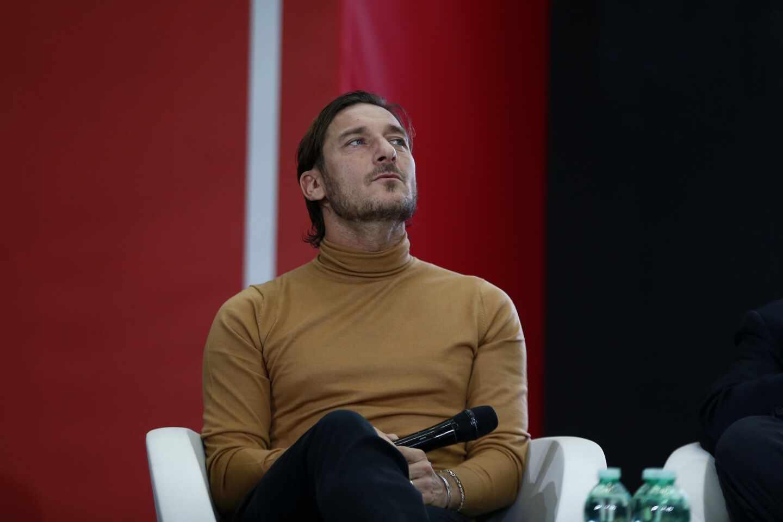 El ex futbolista Francesco Totti, durante la presentación de un libro en Roma.