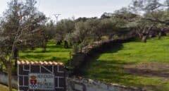 Cartel de bienvenida al pueblo de Palomero (Cáceres).