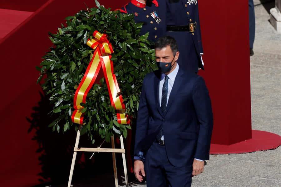 Pedro Sánchez, en los actos del 12 de octubre.