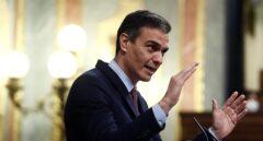 Pedro Sánchez, durante la moción de censura.