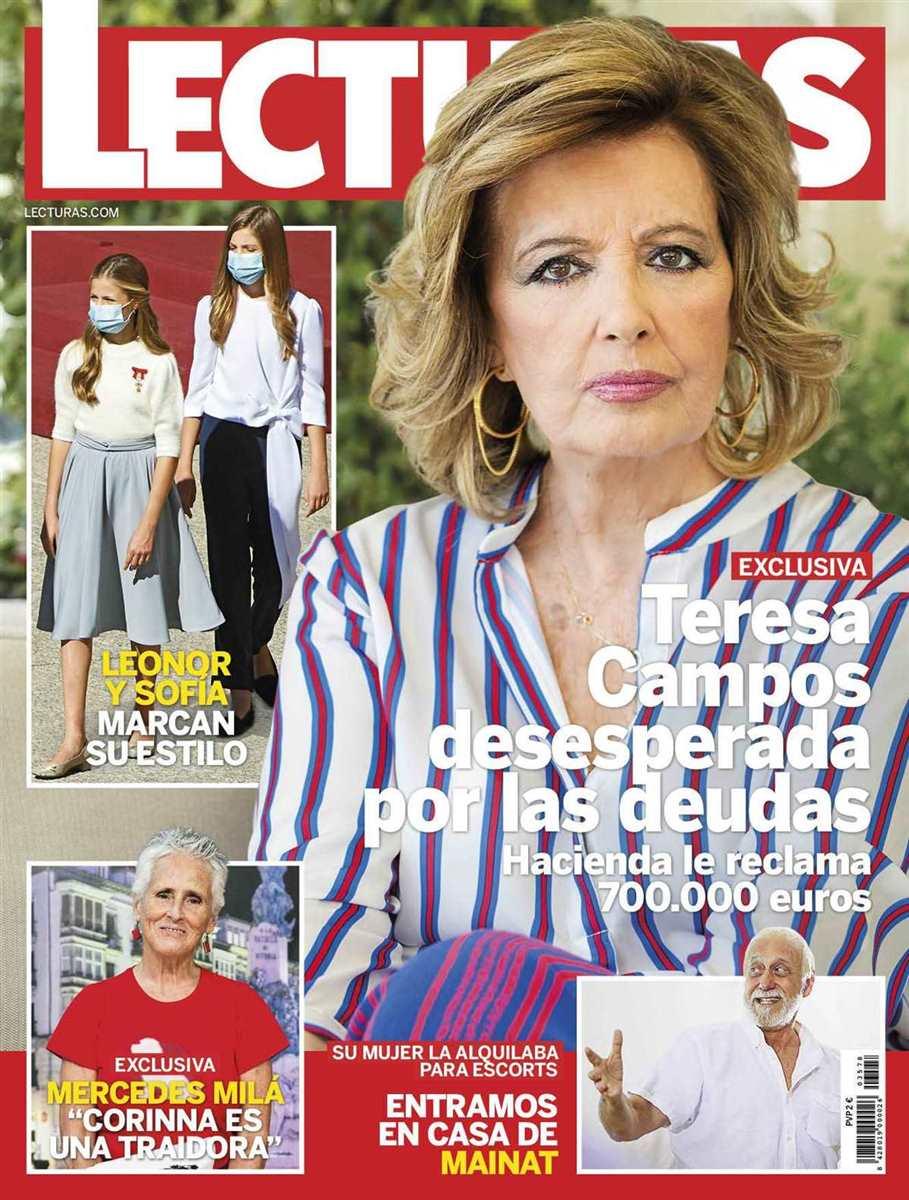 María Teresa Campos en la portada de esta semana de 'Lecturas'.
