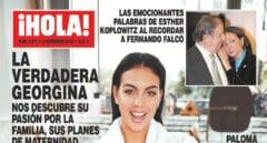 Georgina Rodríguez en la portada de '¡Hola!'