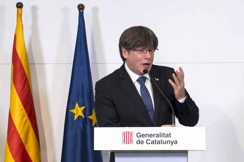 El ex 'president' Carles Puigdemont, en una reciente comparecencia en Perpiñán (Francia).