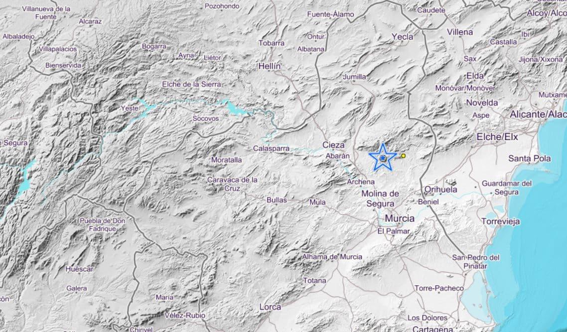 El terremoto, de magnitud 3, ha tenido epicentro cerca de Fortuna.