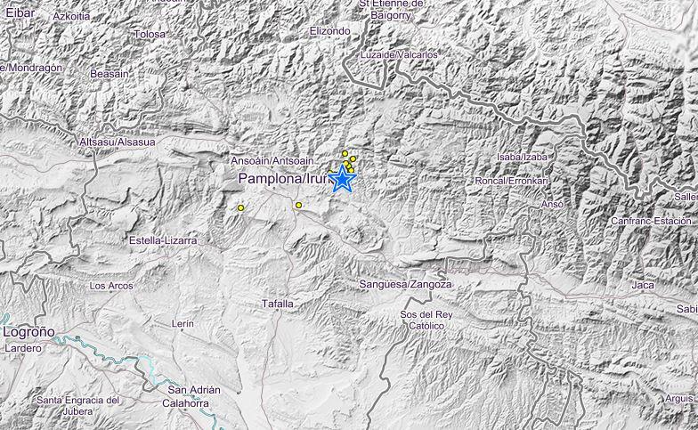 Un terremoto de 4,4 grados se deja notar en Pamplona.