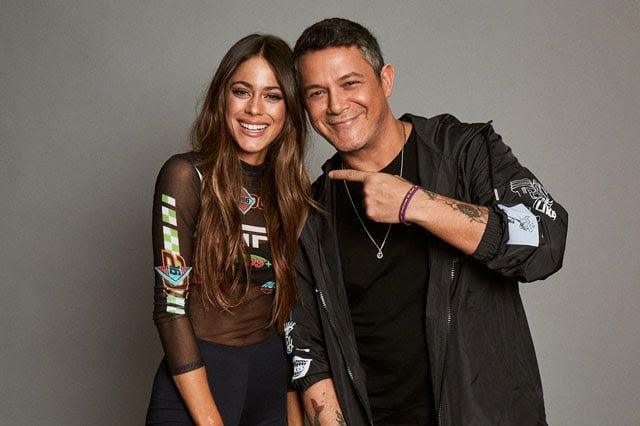 Tini y Alejandro Sanz.