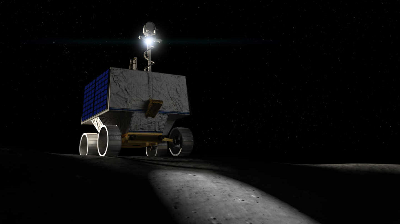Recreación del VIPER en la Luna.