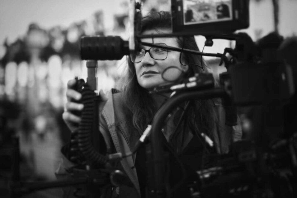 Isabel Coixet rodando 'Nieva en Benidorm'.