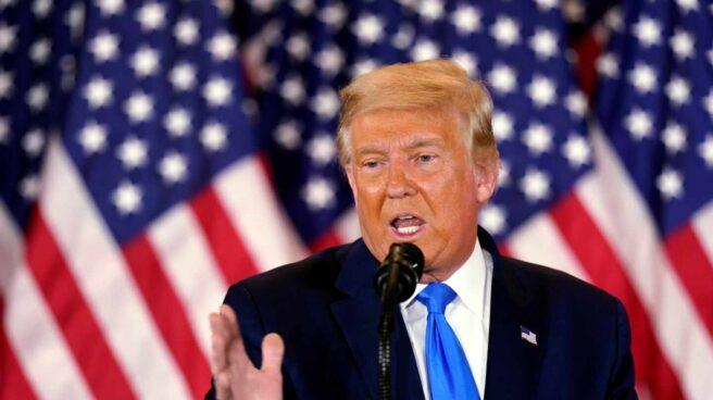 Donald Trump, durante su discurso en la Casa Blanca