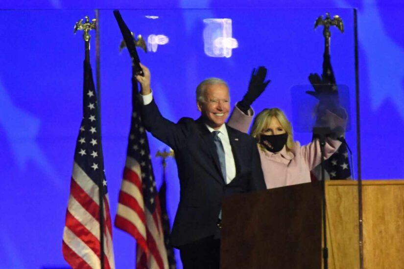 El candidato demócrata se mostró confiado en la victoria en las elecciones