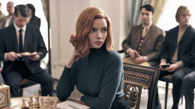 Anya Taylor-Joy en 'Gambito de dama'.
