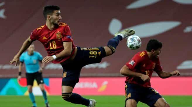 Ferran Torres, autor de tres goles frente a Alemania en Sevilla.