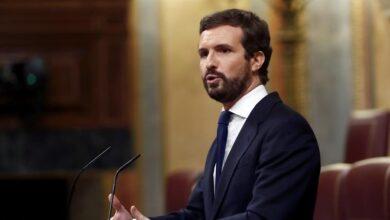 """Casado rechaza unos PGE con el """"sello"""" de Bildu y acusa al PSOE de dejar otra """"crisis brutal"""""""